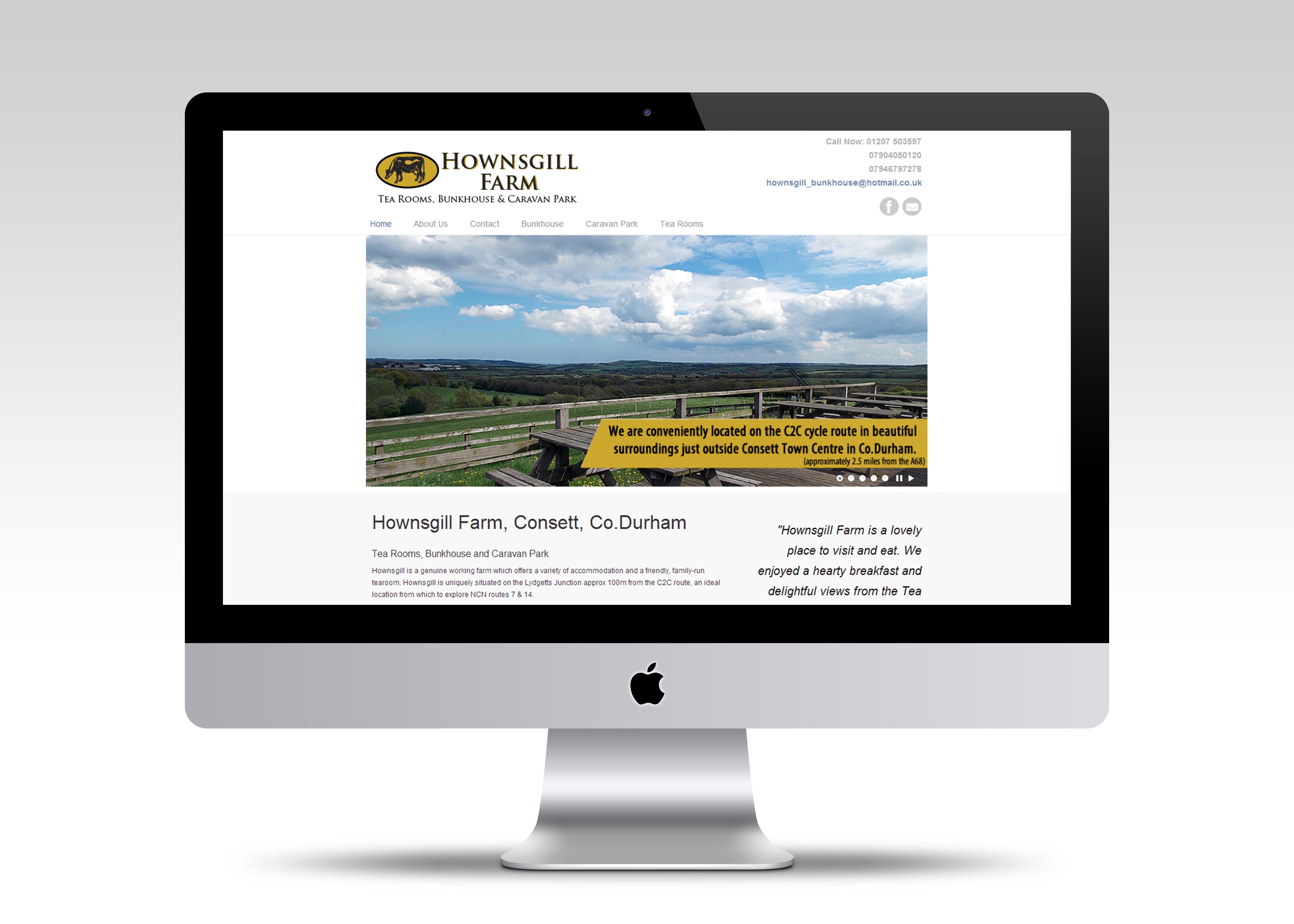 Hownsgill Bunkhouse Website