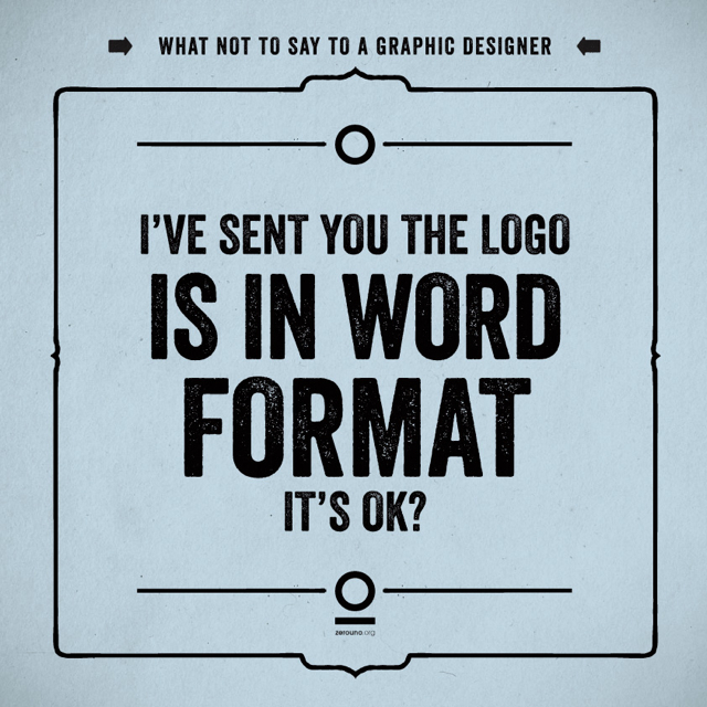 What to Say to a Graphic Designer
