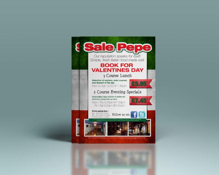Italian Restaurant Advertising - Flyer Design and Printing