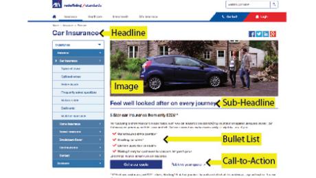 Website Page Content - Web Page Elements
