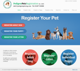Pedigree Pet Registration Website
