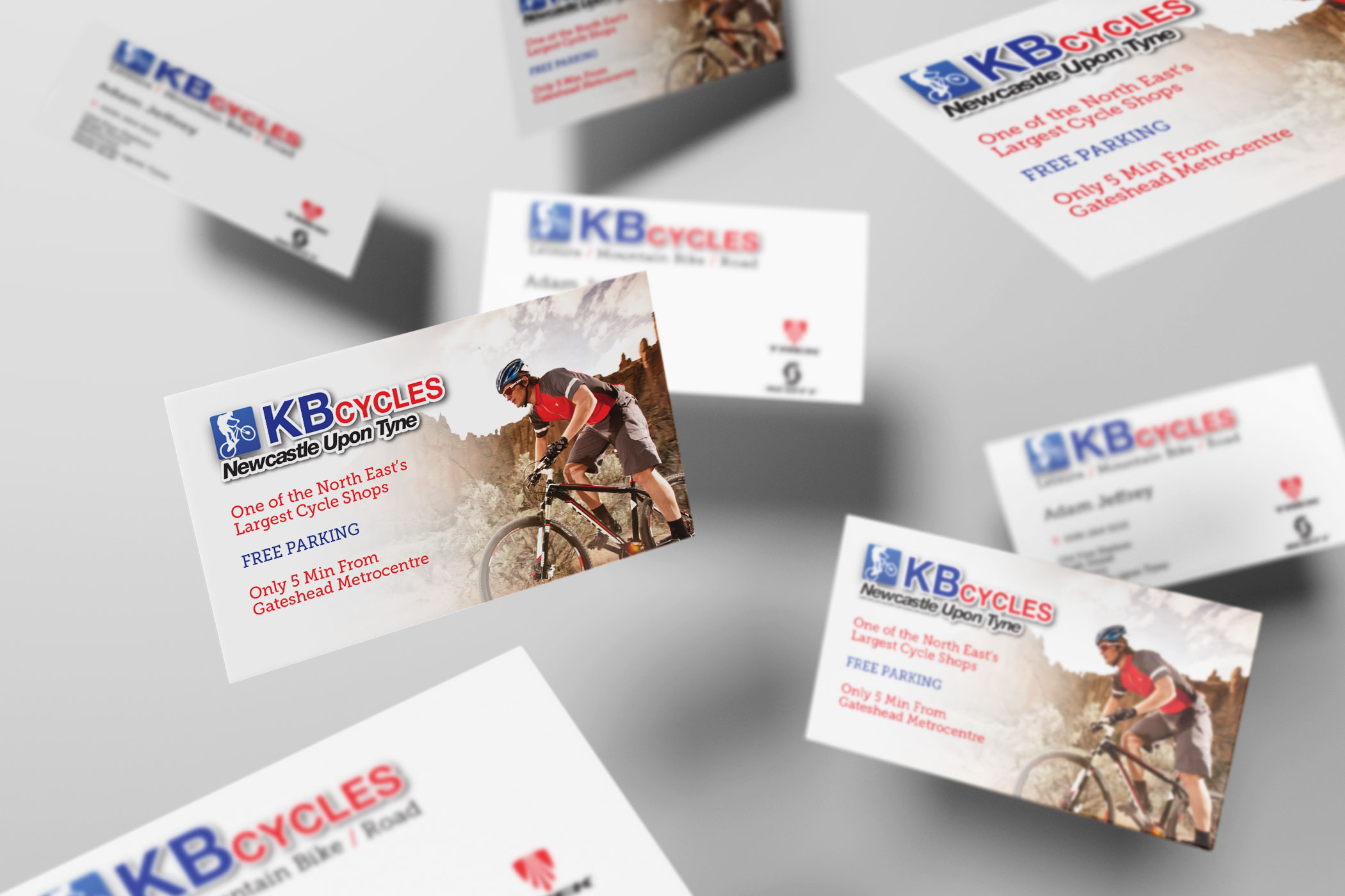 KB Cycles - Business Card Design and Print - Firefly New Media
