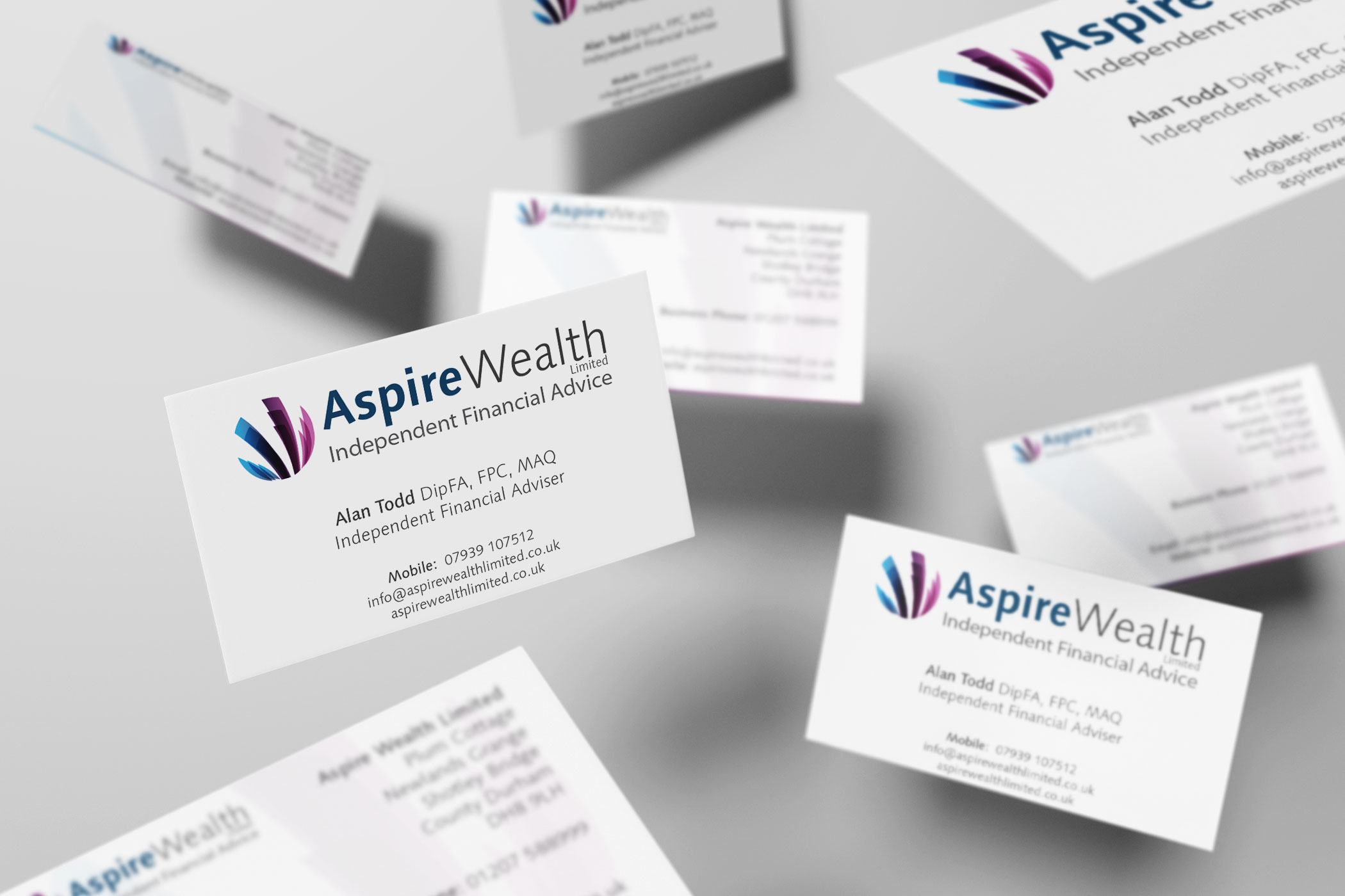Aspire wealth business card design and print firefly new media aspire wealth business card design and print colourmoves