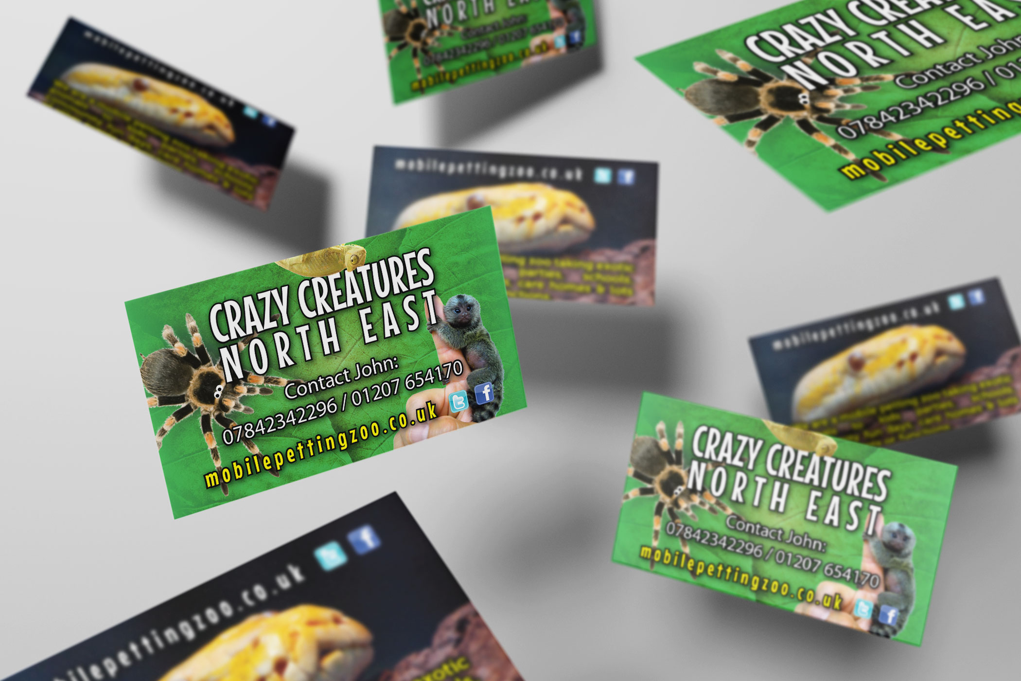 Crazy Creatures North East - Business Card Design and Print ...