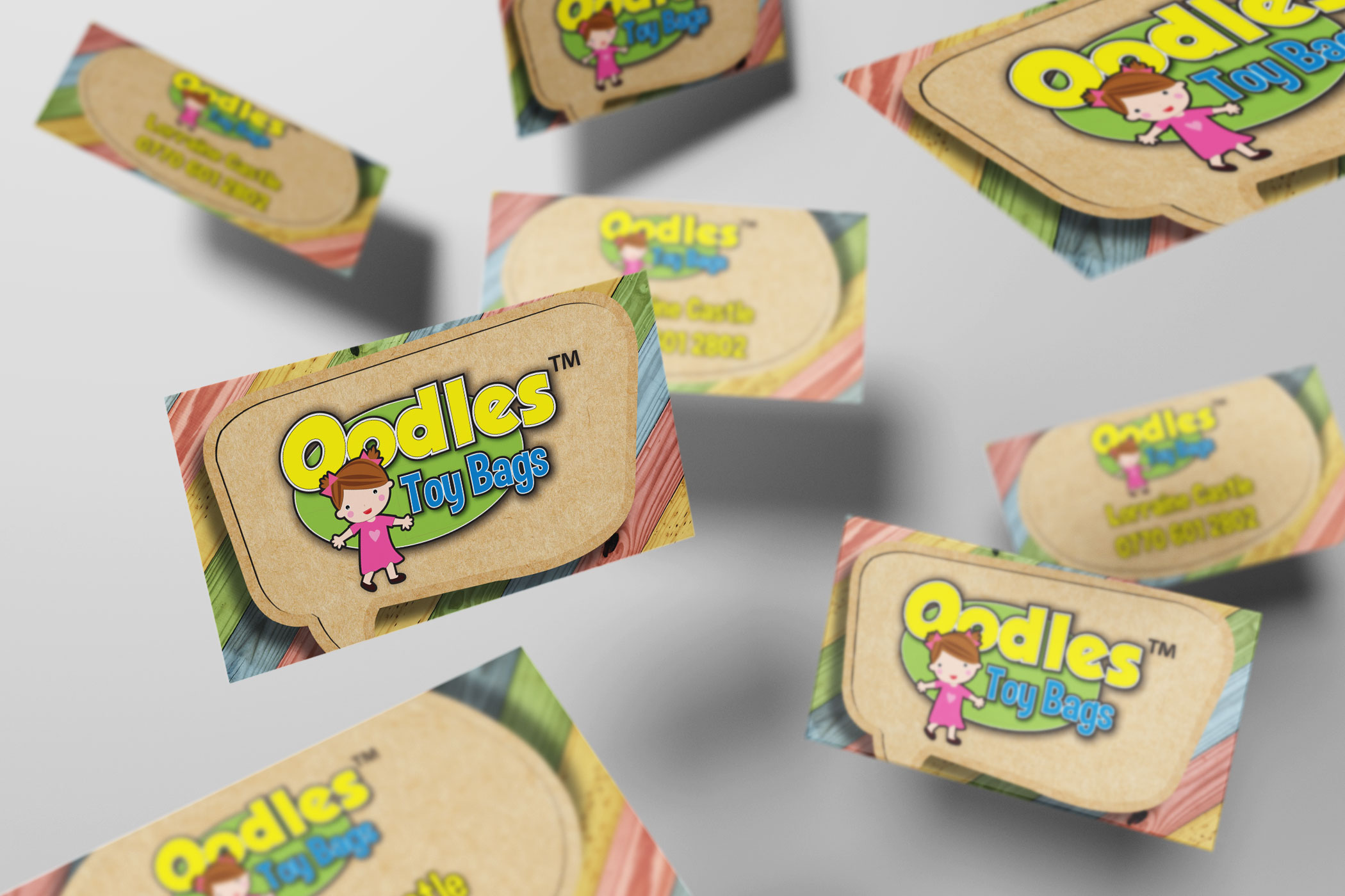 Oodles Toy Bags Business Card Design And Print Firefly New Media Uk