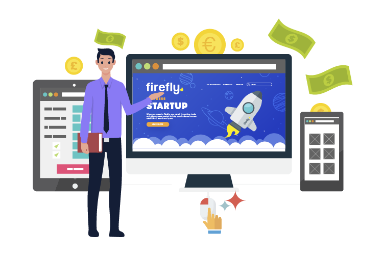 ecommerce website solutions - sell online with a ecommerce website with Firefly New Media UK